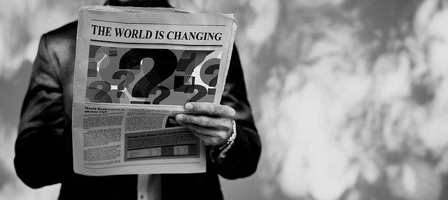 změna v novinách