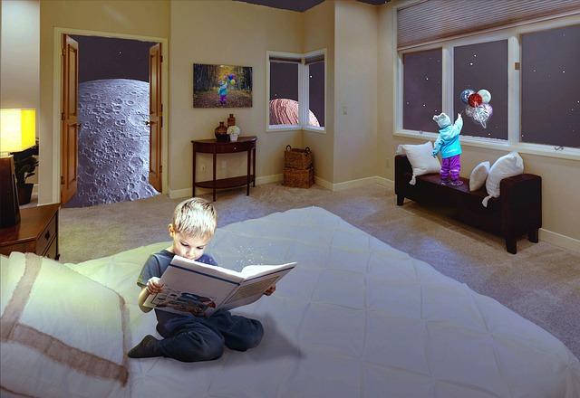 dítě s knihou